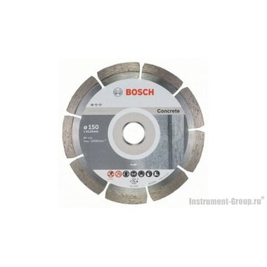 Алмазный диск Standard for Concrete (150x22,23 мм; 10 шт.) Bosch 2608603241
