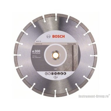 Алмазный диск Standard for Concrete (300x20/25,4 мм) Bosch 2608602543