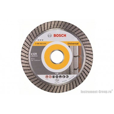 Алмазный диск Best for Universal Turbo (125x22,23 мм) Bosch 2608602672