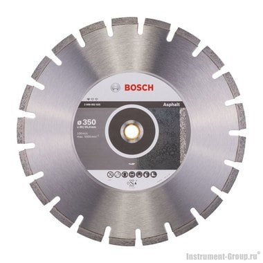 Алмазный диск Standard for Asphalt (350x20/25,4 мм) Bosch 2608602625