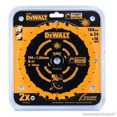 Диск пильный DeWalt DT 10302 (184х16х1.65 мм; 24 зуб; по дереву)