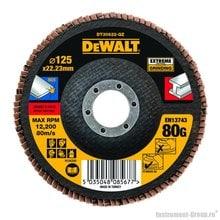 Диск лепестковый по металлу DeWalt DT 30622 (125х22 мм; К80; плоский)