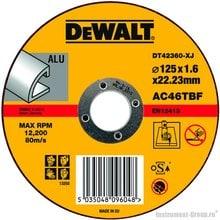 Диск отрезной по алюминию DeWalt DT 42360 (125х22.2х1.6 мм)
