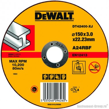 Диск отрезной по металлу DeWalt DT 42400 (150х22.2х3 мм)