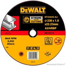 Диск отрезной по металлу DeWalt DT 43600 (230х22.2х1.9 мм; EXTREME)