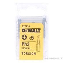 Биты Рh3 (25 мм; 5 шт.) DeWalt DT 7233
