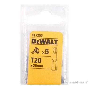 Биты Тоrх Т20 (25 мм; 5 шт.) DeWalt DT 7255