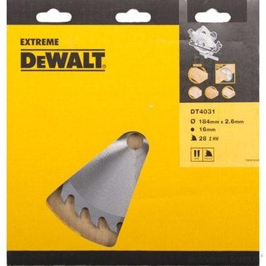 Диск пильный по дереву DeWalt DT 4031 (184х16х1.8 мм; 28 зуб.)