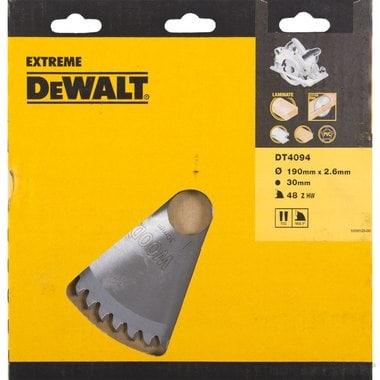 Диск пильный по ламинату, пластику DeWalt DT 4094 (190х30х1.8 мм; 48 зуб.)