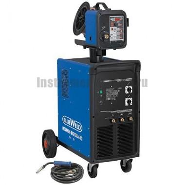 Цифровой сварочный полуавтомат BlueWeld MEGAMIG DIGITAL 610 SYNERGIC