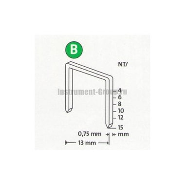 Скобы тонкие супертвердые Novus 042-0524 (NT/10S; 5000 шт.)